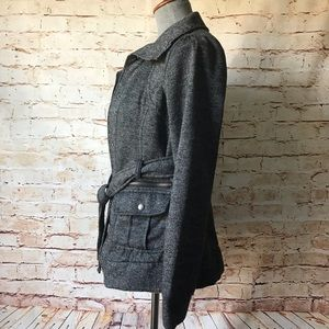 Black Rivet Jackets & Coats - Black Rivet Asymmetrical Short Peplum Trench NWOT
